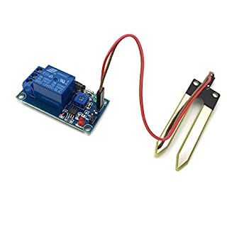 AptoFun DC12V Soil Moisture Sensor Module Relay Module