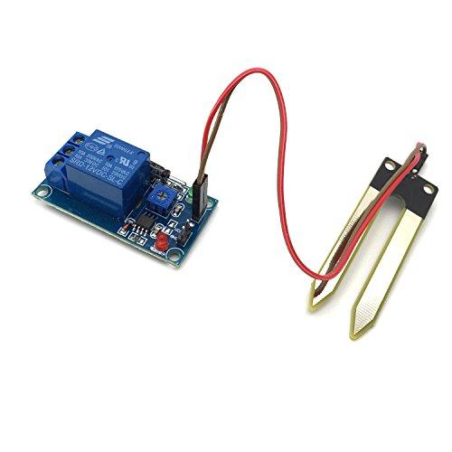 AptoFun DC12V Bodenfeuchte-Sensor-Modul/Feuchtesensor Relaismodul