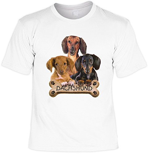 T-Shirt - Dackel mit Hunde Keks - USA Motiv Shirt als Geschenk für Hunde Fans