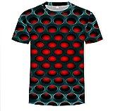 DDPP Camiseta de Hombre Casual Manga Corta O-Cuello Moda impresión Divertida 3D Camiseta Masculina/Femenina,Honeycomb