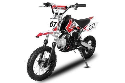 Dirtbike Storm 110cc 14/12 Automatik mit E-Start Crossbike Minibike Kinderbike (Rot)