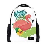 MONTOJ Baby Flamingo Polyester Reisetasche Campus Rucksack