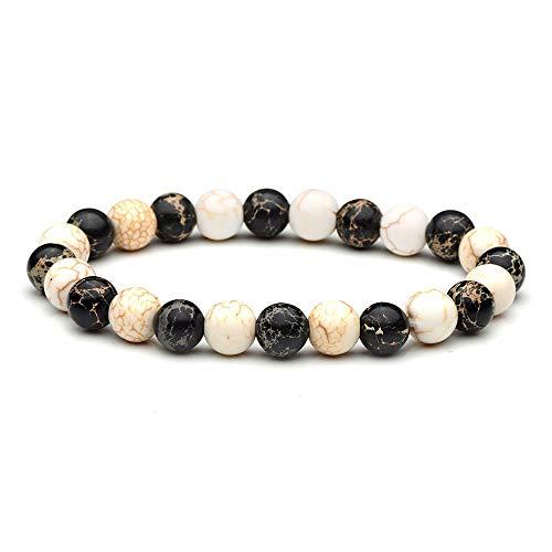 Weiduoli Natürliche Stein Armband 8mm Mix Mode elastisches Armband Männer runden Perlen und Schmuck
