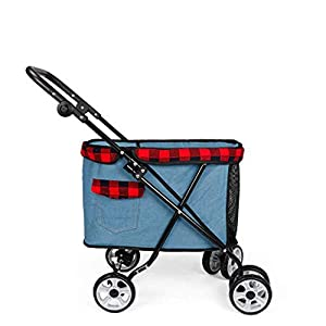 XYZK Travel Stroller Dog Cat Pushchair Pram Jogger Buggy With 4 Wheels   12