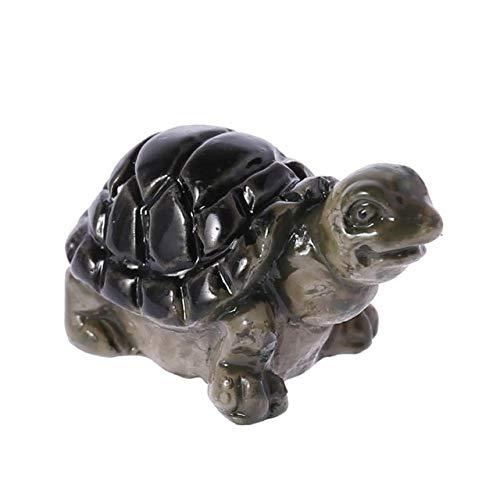 Shoppy étoile Ootdty 5 pcs/lot Miniature Résine Tortue Micro Pot de Jardin bonsaï Craft Décoration 2.0 cmx1.0 cm Ornement pour Jardin Maison : Noir
