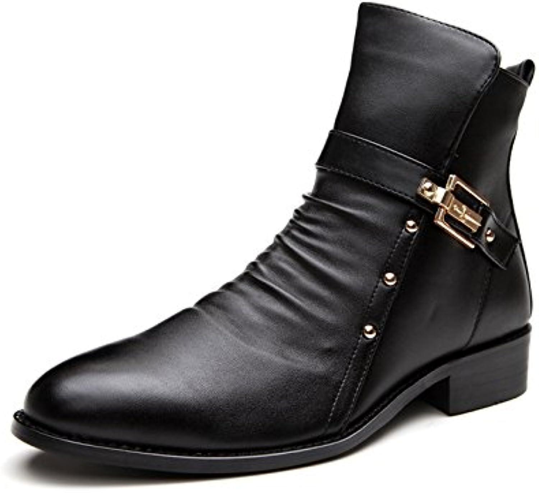Koyi Neue Männer Schuhe Mode Wies Martin Stiefel Britischen Casual Leder Stiefel Spitzen Kopf in der Low Heel