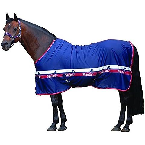 Masta - Coperta per cavallo, modello CoolMmasta, Blu (Blu navy), 145 cm