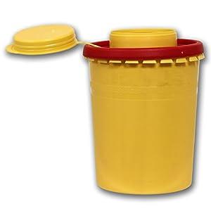 Kanülenabwurfbehälter 500ml aus Plastik Tattoopartner Kanülensammelbehälter