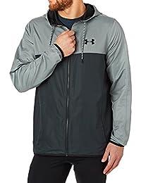 Under Armour Heatgear de deporte Style cortavientos con capucha para hombre gris claro/gris Talla:XL