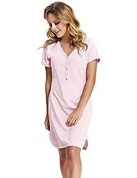 dn-nightwear - Camisón - Manga Corta - para Mujer Rosa M