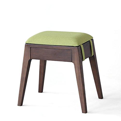 Dekorative Schuh-speicher (DYFYMX,Mode Hocker Massivholz Dressing Hocker modernen minimalistischen Speicher Make-up Hocker Soft Schuh Bank Möbel (Farbe : E))