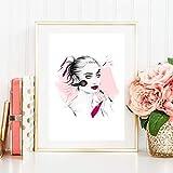 Bild Din A4 Model Make up Schminken Kosmetik Fashion Mode Beauty Schönheit Kunstdruck Beauty Schönheit Luxus Lifestyle, Geschenk, Druck, Poster, Deko, Bild