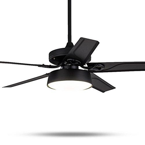 #Kronleuchter Deckenventilator Moderne Fan Licht Stumm natürliche Wind Ce Lampe Led Licht Holz Oder Eisen Schwarz Weiß Metall Sling #Kronleuchter (Farbe : Weiß-107CM) -