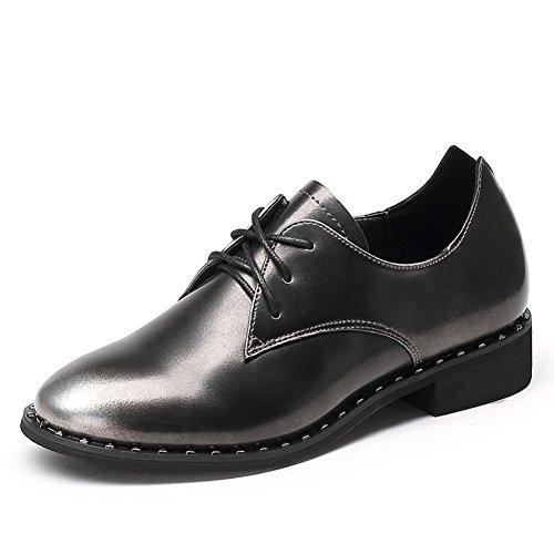 Profonde rugueuse avec des chaussures à l'automne/ chaussures basses femme avec rivet/Chaussures occasionnelles de dentelle/Chaussures femme B