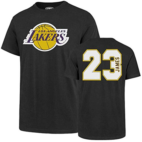 OST NBA Los Angeles Lakers Men's Rival Tee, X-Large, Lebron James Charcoal