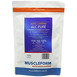 41AvLqh9RbL. SS300  - Muscleform ALC Pure (Acetyl l-Carnitine) ALCAR 250g Resealable Pouch - up to 333 Days Supply | Free Express Delivery