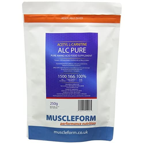 41AvLqh9RbL. SS500  - Muscleform ALC Pure (Acetyl l-Carnitine) ALCAR 250g Resealable Pouch - up to 333 Days Supply | Free Express Delivery