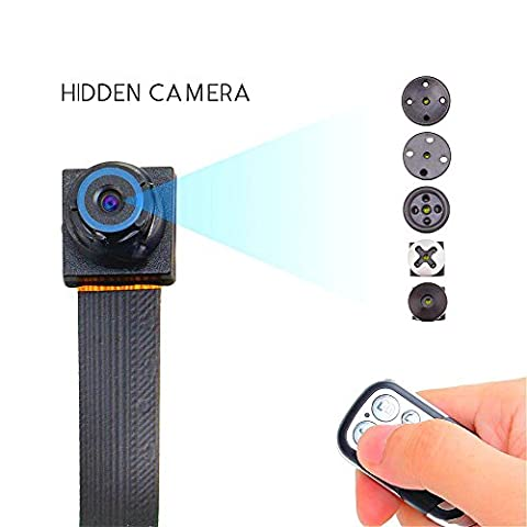 Full HD 1080p caméra Hidden Spy Cam cachée module cancorder activée mouvement Spy caméra vidéo Loop enregistrement 32Go SD Intérieur DVR sans fil domestique avec la vision nocturne + télécommande