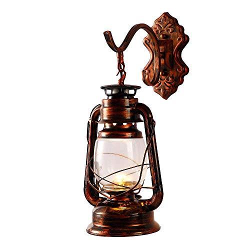 ZHAS Petroleum Wandlaterne Licht Vintage Metall \u0026 Glas Wandleuchte Lichter Für Schlafzimmer Wohnzimmer Esszimmer Cafe Bar Flur D \u0026 Eacute; COR (Farbe: B) -