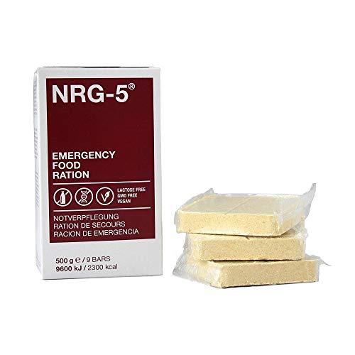 NRG-5 - Pastillas nutritivas de emergencia (500 g, 9 raciones)