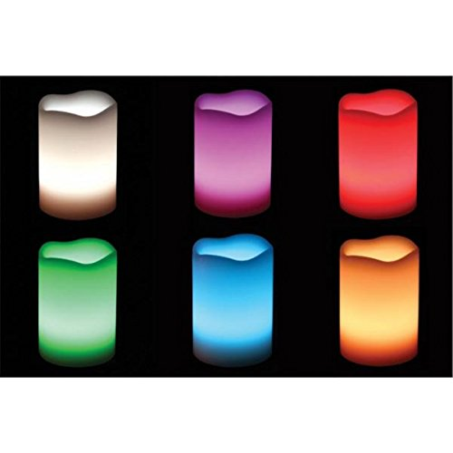 Vela LED, acabado cera con cambio de color