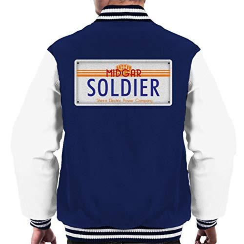 Cloud City 7 Final Fantasy Midgar Soldier License Plate Men's Varsity Jacket