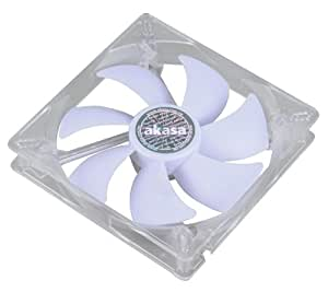 Akasa AK-195WH 14cm Quiet White LED Fan