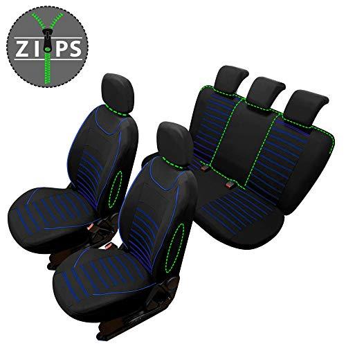 rmg-distribuzione Coprisedili SPECIFICI per MICRA Versione (2002-2010) compatibili con sedili con airbag, bracciolo Laterale, sedili Posteriori sdoppiabili R61S0577