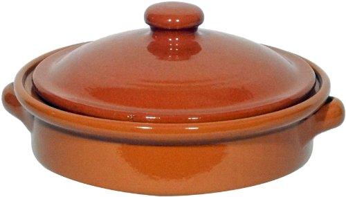 Amazing Cookware Natural Terracotta 20cm Round Dish with Lid