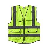 WBBFGF Giubbotto Riflettente, Abbigliamento da Sicurezza per La Sicurezza del Traffico Giubbotto Riflettente Abbigliamento Fluorescente Tre Colori Opzionale