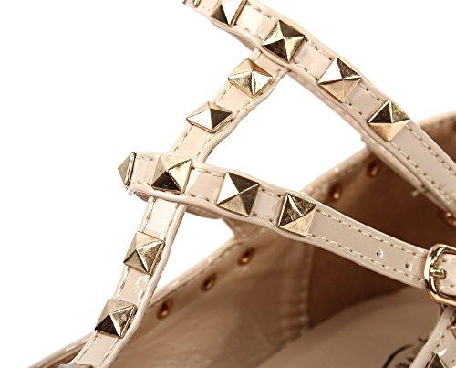Scarpe Da Uomo Scarpe Da Principessa Rivetto In Pizzo Cinturino Alla Caviglia Ballerine Scarpe Piatte Rosa