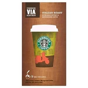 Starbucks via italian roast coffee 7 sachets pack of 12 for Starbucks italie