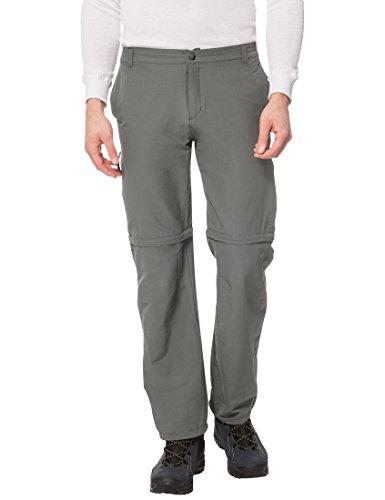 Ultrasport on trail lungo pantaloni da trekking 2in1 per uomo - funzione quick dry - protezione uv (upf 40+), grigio, s