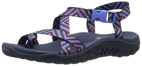 Skechers Reggae Toe Sandal Anneau Navy/Amp/Pink
