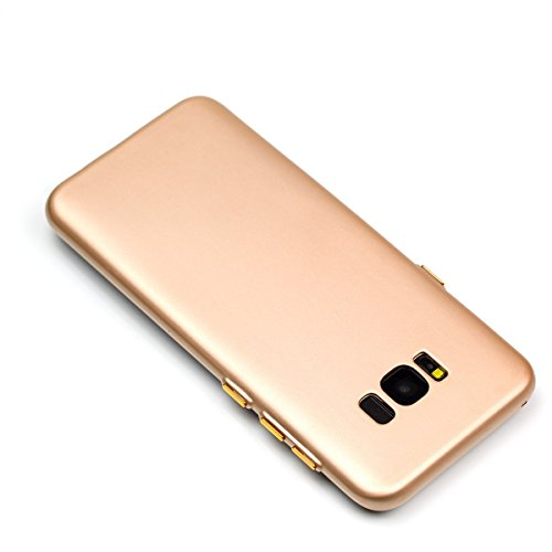 YHUISEN Galaxy S8 Case, Solid Color Matte Slim Fit Soft TPU Gel Langlebig Schock Absorbing Schutzhülle Für Samsung Galaxy S8 ( Color : Blue ) Gold