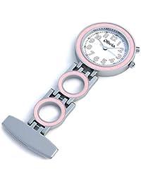 La Olivia Collection TOC03–Orologio infermiere Rosa con luce di fondo