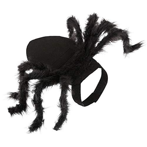 JstDoit Halloween Pet Spider Kostüm, Simulation Plüsch Spider Dressing Pet Kleidung für Hunde, Katzen (S) (Spider Pet Kostüm)