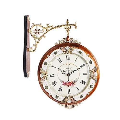 ZLZGZ Reloj De Pared De Dos Caras, Grande, Rotación De 360   Grados, Diámetro 23,2 Cm, Sala De Estar...