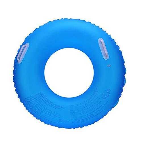 Qnlly Fluoreszierende Schwimmring Verdickung Männer und Frauen aufblasbarer Rettungsring,Blue,70cm