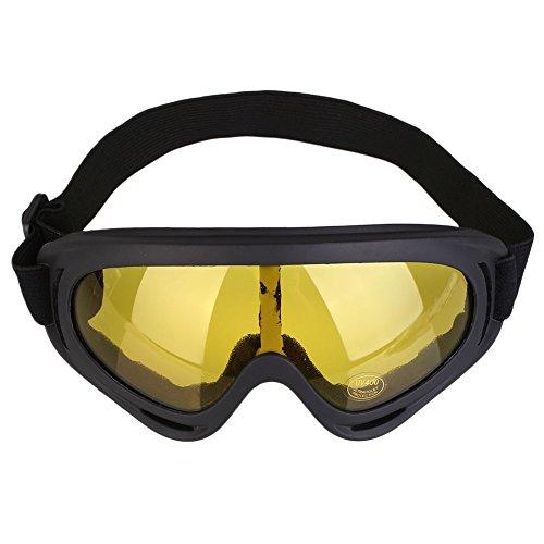 TOPmountain - Übergroße Herren-Sonnenbrille Matte Black Rubberized Polarized Motor Cycle Sport NEU
