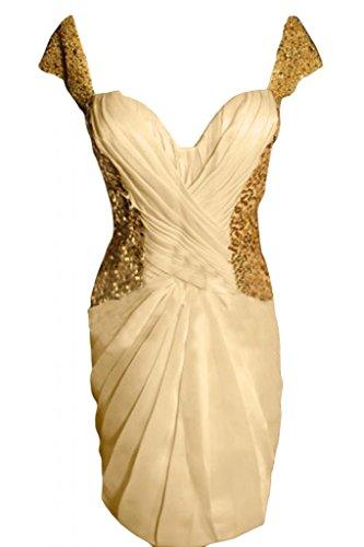 Sunvary Charming Sweetheart vestito maniche corte, per Cocktail Party Gowns-Mini abito da sera Daffodil