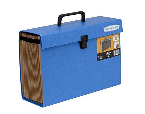 Foto de Fellowes Bankers Box - Clasificador de fuelle con 19 secciones y cierre de seguridad, color azul