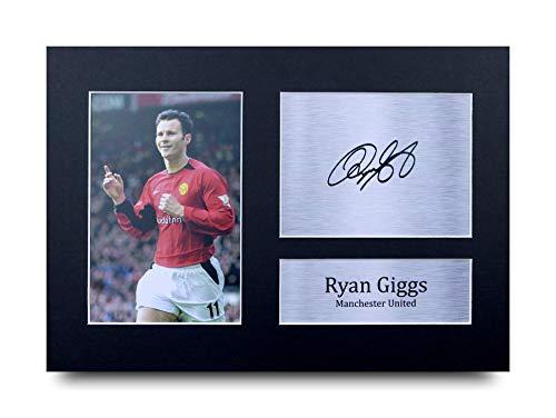 HWC Trading Ryan Giggs A4 Ungerahmt Signiert Gedruckt Autogramme Bild Druck-Fotoanzeige Geschenk Für Manchester United Fußball Fans -