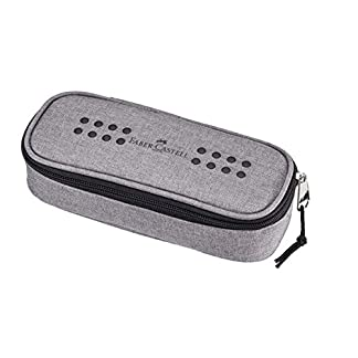 Faber-Castell Grip Soft pencil case Poliéster Gris – Estuche (60 mm, 210 mm)