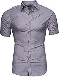 KAYHAN Homme Chemise Slim Fit Repassage facile, Manches courte Modell - CARIBIC