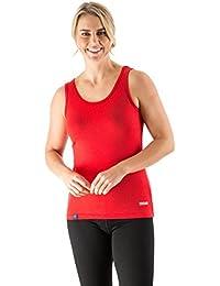 EDZ 200g Merino Wool Womens Vest Red