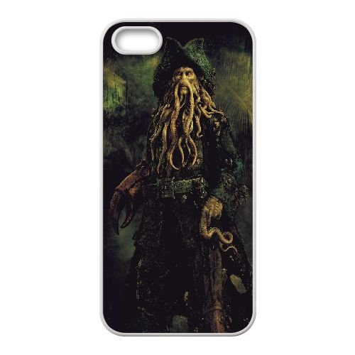 Davy Jones Pirates Of The Caribbean coque iPhone 4 4S Housse Blanc téléphone portable couverture de cas coque EBDXJKNBO13088
