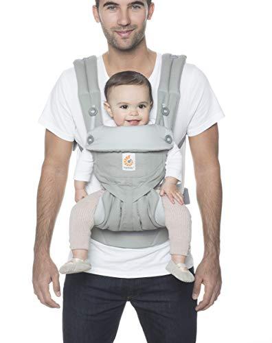 Ergobaby Babytrage Kleinkind bis 3 Jahre (5.5 bis 20 kg) grau Carrier 360 BC360PEARL / Ergonomische Babytragetasche für Rücken Bauch und Hüfte