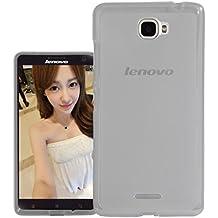 Prevoa ® 丨 Lenovo S856 Funda - Transparent Silicona TPU Protictive Carcasa Funda Case para Lenovo S856 - 5.5 Pulgada Smartphone - Negro