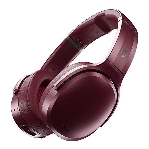 Casque Skullcandy Crusher ANC Supra-auriculaire, Bluetooth, avec Microphone, Annulation du Bruit, Technologie Sensory Bass réglable et Son personnalisé, autonomie jusqu'à 24Heures - Rouge/Noir